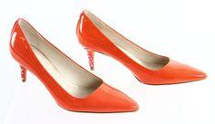"Coach ""Grand"" Coral Orange Pointed Toe Classic Pumps 8.5B #Coach #PumpsClassics #Party"
