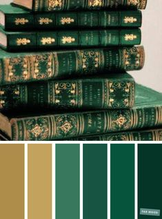 Emerald green and gold color scheme Green Things green color palette Color Schemes Colour Palettes, Gold Color Scheme, Green Color Schemes, Green Colour Palette, Gold Paint Colors, Gold Palette, Color Schemes Design, Color Combos, Palette Verte