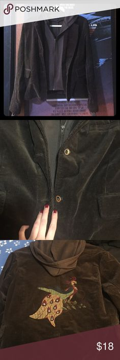 Corduroy Jacket Brown corduroy jacket • Worn but good condition • One small hole that isn't visible at all when on! Wet Seal Jackets & Coats