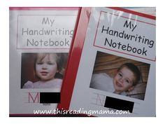 My Handwriting Notebook for Reading the Alphabet (FREE printable) - This Reading Mama