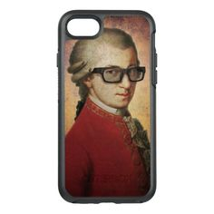Shop Funny Happy Hipster Wolfgang Amadeus Mozart OtterBox iPhone Case created by StrangeStore. Geek Gifts, Cat Gifts, Hipster Gifts, Funny Owls, Robots For Kids, Funny Happy, Little Dogs, Iphone Cases, Iphone 7