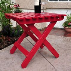 CHECK OUT! https://seethis.co/k6PQO/ #Folding #EndTable #RED #Cedar #Square #Outdoor #Patio #WeatherResistant #Furniture