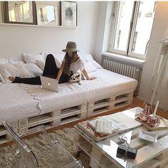 pallet bed / sofa / indie / tumblr