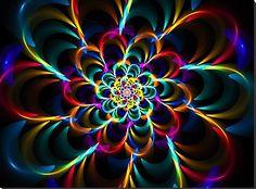 ✺☆ Fractales ☆✺  fractal flowers