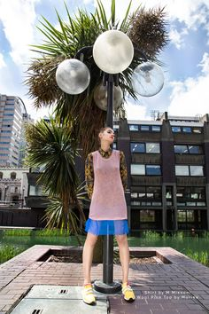 eclectic fashion, editorial, summer, Shirt by M Missoni, Wool pink top by Muriee #missoni