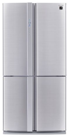 Simple and stylish, the Sharp French door fridge is ideal for a large family. Free metro delivery, connection and removal available at Appliances Online. American Fridge Freezers, American Style Fridge Freezer, Top Freezer Refrigerator, French Doors, Kitchen Appliances, Newcastle, Products, Diy Kitchen Appliances, Home Appliances