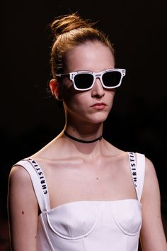 Dior's bright white sunglasses are the perfect finishing touch for Maria Grazia Chiuri's fresh new start at the house.
