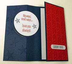 Baseball Circle Flip Card June Card Class (1 of 5) Card Idea Carol Lovenstein ~ Stampin' Up!