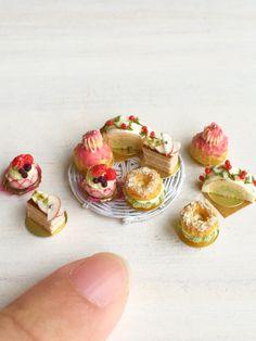 ドールハウス☆ミニチュア☆五種のケーキのセット