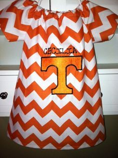 Tennessee inspired monogrammed in chevron fabric on Etsy, $35.00