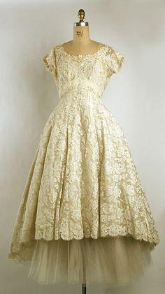 Jay-Thorpe, Inc. Dress 1959-60 #partydress #romantic #feminine #fashion #vintage #designer #classic #dress #highendvintage #wedding #bride