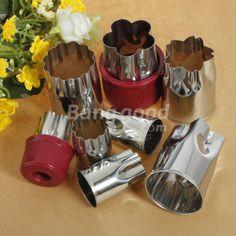 Wholesale 8 pcs Cut Flower Shape Cookie Cake Fruit Cutter Mold