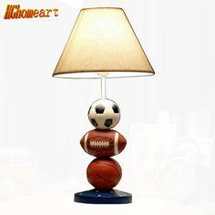 Hghomeart Children Lamp Dimming Bedroom Table Lamp Lovely Basket Soccer Bedside Desk Lamp Creative Personalized Birthday Gift #Affiliate