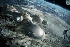 Space future, ESA, life in space, 3D printed lunar base, futuristic technology, future moon base