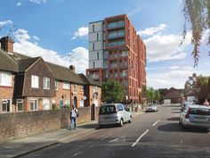 Situated on the site of a former Press House in Wembley, North London, this residential development aspires to deliver a mixed-tenure scheme. North London, Cgi, Architects, Street View, House, Home, Building Homes, Homes, Houses