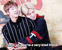 Jimin likes his hyung a lot ♡