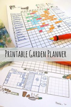 Printable Garden Planner // Instant Download, Vegetable, Calendar, Horticulture, Seed Diary, Harvest, Planting, Sowing, Gardening, Growing **This is an affiliate link.