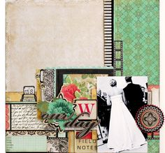 if i ever get around to scrapbooking my wedding photos ::: #layout @Christine Middlecamp