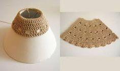 pantallas lamparas tejidas crochet - Buscar con Google