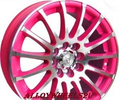 "Pink Car Accessories | Wolfrace Alloy Wheels. Alloys 17"" Pro sprint HOT PINKALLOYS. 4 wheels."