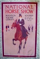1910 National Horse Show Poster George Ford Morris - Side-saddle print