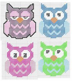 Owl plastic canvas