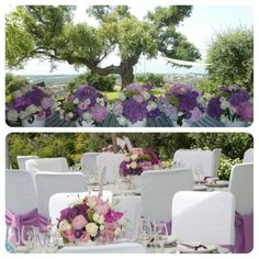 Setup and florals by caprichia.com Weddings & Occasions for a Baptism celebration in Marbella. Flowers by L&N Floral Design