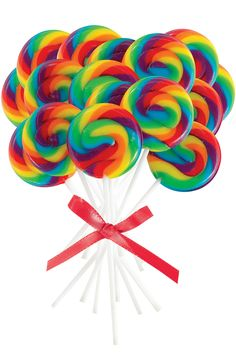 "Invite kids to pop these lollies in a pocket as a fun take-home favor. Includes 16 lollipops. Each features 2"" of spiraled candy."