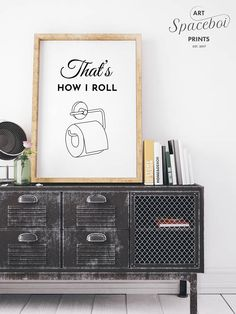 Thats How I Roll Toilet Paper Bathroom Sign, Toilet Tissue Funny Printable, Funny quote print, Bathroom decor, Wall Art, Bathroom wall art . I N S T A N T - D O W N L O A D . Printable art is an easy and affordable way to personalize your home or office. You can print from home, your local print shop, or upload the files to an online printing service and have your prints delivered to your door! . I N C L U D E D - F I L E S . Included are 5 high res JPG image files at 300 dpi, if youre ha... Bathroom Wall Art, Bathroom Signs, Printing Services, Online Printing, Black And White Living Room, Quote Prints, Living Room Interior, Toilet Paper, Printable Art