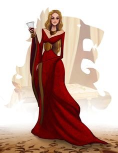 Items similar to Cersei Lannister from GAME of THRONES (Song of Ice and Fire) art painting print, signed by Leann Hill on Etsy Dessin Game Of Thrones, Arte Game Of Thrones, Game Of Thrones Quotes, Game Thrones, Game Of Thrones Cartoon, Sansa Stark, Disney Marvel, Game Of Thrones Illustrations, Game Of Thones