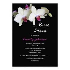 Floral Bridal Shower Invitation -- Orchids Invite