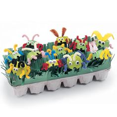 Egg Carton Critters | Recycled Crafts - Recyclable Crafts for Kids - Recycling Craft Ideas | FamilyFun