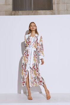 WITH OR WITHOUT DRESS ivory abstract floral | C/MEO COLLECTIVE | BNKR Dress Outfits, Dress Up, Without Dress, Fitted Midi Dress, Get Dressed, Dress Collection, Ivory, Floral, Abstract