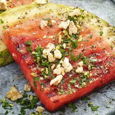 Learn to make Grilled Watermelon Steaks with Walnut Gremolata. Read these easy to follow recipe instructions and enjoy Grilled Watermelon Steaks with Walnut Gremolata today!