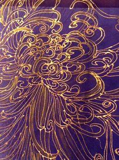 Purple and Gold Pattern