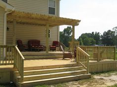 Multi-level Deck with Pergola. This is perfect for our house!!!!