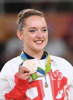 Team GB's youngest athlete Amy Tinkler wins bronze in gymnastics at Rio Olympics   Daily Mail Online