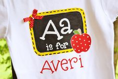 personalized shirt back to school tee first day of school