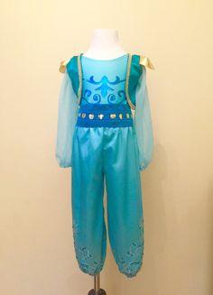 Shimmer & Shine Inspired Handmade Genie Costume, Girls Arabian Princess Genie Costume, Perfect for Halloween or a Birthday Party