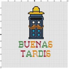 Buenas Tardis Doctor Who   Cross Stitch by SnarkyArtCompany                                                                                                                                                                                 More