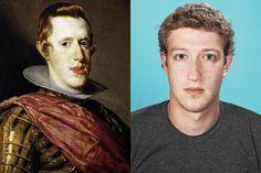 Phillip IV --> Mark Zuckerberg. 19 Mindblowing Historical Doppelgangers.