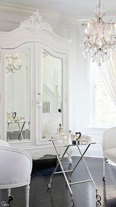/ white dressing area /