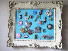 Vintage pin/brooch display - JEWELRY AND TRINKETS - DIY, tutorials, needlework, paper crafts, knitting, crochet, sewing, swaps, jewelry and so much more on Craftster.org