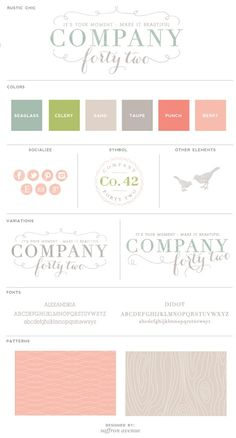 Company Forty Two's new business branding designed by Saffron Avenue http://companyfortytwo.blogspot.com/2013/03/the-new-co-42.html