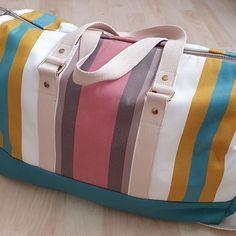 USeam sur Instagram: #nouveaubillet On part en week-end ? Je vous présente mon nouveau sac de voyage aujourd'hui le blog ! Patron : @patrons_sacotin Tissus :…