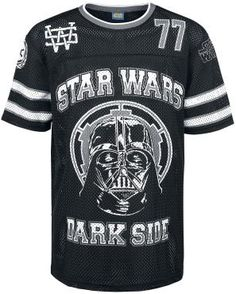 "Star Wars - Darth Vader - mesh shirt  - Star Wars -  Darth Vader basketball mesh shirt with logo - light and breathable material - round neck - regular fit  You are into basketball and Star Wars? Then check out this black ""Darth Vader Mesh Shirt"" of Star Wars. On the front of this mesh shirt you can see the head of Darth Vader and the writing ""Star Wars"" and ""Dark Side"". On the back it says ""Star Wars"",  ""Dark Side"" and the number 77. So what ..."
