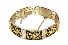 Vintage 1950s Link Bracelet Handmade Toledo by boboCOLLECTED
