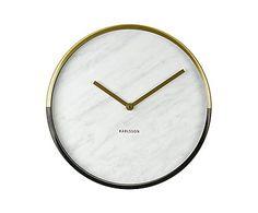 Настенные часы - металл - белый, 30х4 см