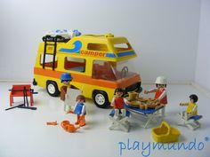 Playmobil camper van autocaravanas y campers juguetes for Autocaravana playmobil