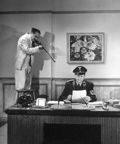 How To Be A Spy, According to Groucho Marx   TIMECaption from LIFE. Rifling the Desk: This is considered as infallible by Marx because even if he does not get the papers, he will probably shoot the Nazi.